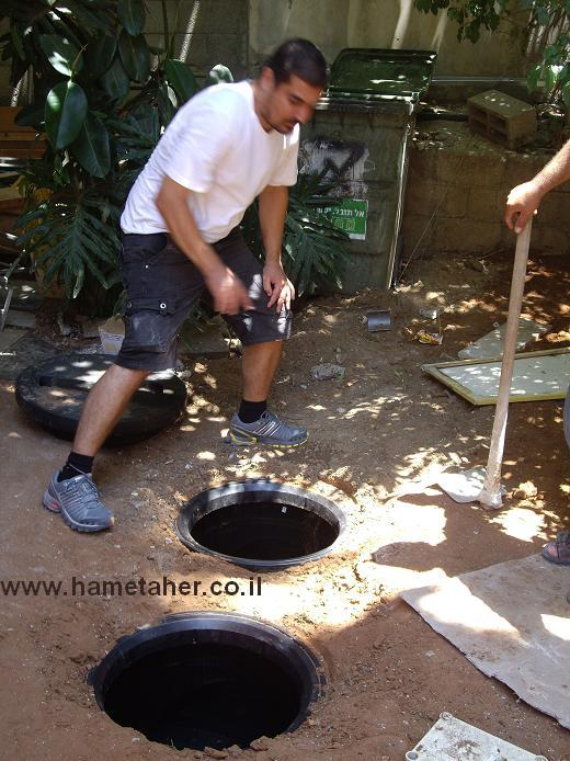 Oil-Water-Separator-Tarod-1100-liters-after installation-by-www.hametaher.co.il